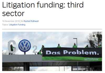 Litigation funding: Third sector